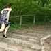 Bánó Izabella futás közben felmelegszik