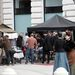 Robert Pattinson a Bel Ami című film forgatásán Budapesten.