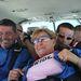 Phil és Gail Mathis a repülőn