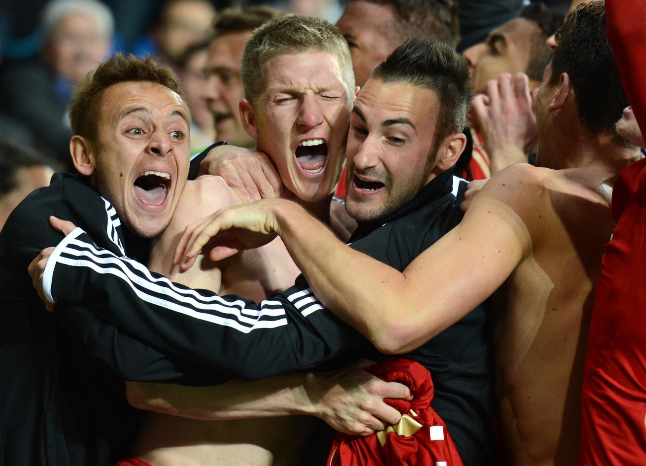 Bastian Schweinsteiger a Bayern Münchenből gólt rúgott a Real Madridnak