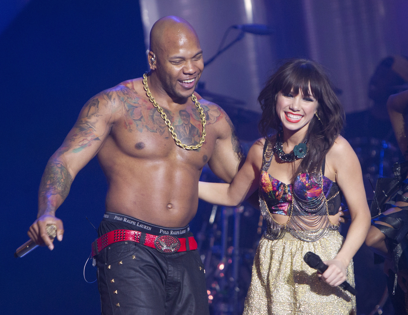 Flo Rida és Carly Rae Jepsen a Much Music Video Awards nevű díjkiosztón