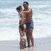 Carlos Tevez családjával Miamiben a strandon