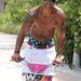 Shemar Moore Miamiben a strandon nyomja a pedált