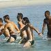 A Parma FC edzése a vízben