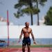 James Ellington brit sprinter az olimpiára készül egy edzőtáborban