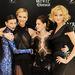 Egy viszonylag friss kép: balszélen Ross, Charlize Theron, Kristen Stewart és a nyesttekintetű Lily Cole. A Hófehér és a vadász bemutatóján