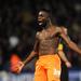 Nouha Dicko a Blackpool csapatából ünnepli magát, illetve gólját