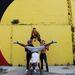 A Circolombia akrobatái, Jonathon, Lil-Louce, Yeckly és Krespo, Ausztráliában pózolnak