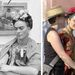 Frida Kahlo és Salma Hayek, miközben Frida Kahlót játszik
