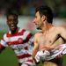 Labinot Haliti mez nélkül a gól után