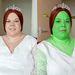 Heidi Coxshall, a menyasszony, sminkelés előtt és után