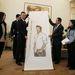 David Beckham kap magáról egy portrét