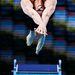 Egy meg nem nevezett úszó rajtol 2008-ban Manchesterben a rövidtávú úszóbajnokságon