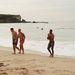 Josh Morris, Luke Lewis, Justin Hodges és Anthony Watmough mintha fázna a vízből kifelé jövet