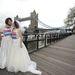 Sophie McCorry-Day és Toby McCorry a menyasszonyi ruhás maratonfutásra készül
