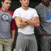 Dave Franco, Zac Efron és Christopher Mintz-Plasse a Townies forgatásán