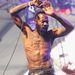 Stefan Burnett még áprilisban a Death Grips-koncerten a Coachella fesztiválon