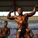 A palesztin testépítő-bajnokok a színpadon