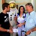 A hosztesszlány mellett Farkas Bertalan, az első magyar űrhajós