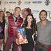 A fiúk karácsonyi hangulatban Kyle Richards színésznővel és az esemény szervezőjével, David Cooley-val