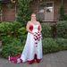 Az esküvőn, még a nyírás előtt