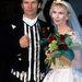 9. Sting és Trudy Styler – a híres zenész és felesége 1992-es esküvőjükön