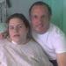 Cheryl Wray a kórházban, édesapjával, amikor hasnyálmirigyét műtötték