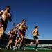 Ők is ausztrál focisták, éppen futóedzésük van