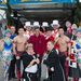 Stephanie hercegnő Monacóban a cirkuszfesztiválon néhány artistával