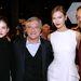 Balról jobbra: Palvin Barbara modell, Sidney Toledano, a Dior vezérigazgatója, Karlie Kloss modell és Will Smith szcientológus