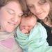 Kelly Furlonger, felesége Rhi és babájuk, Jasmine, aki ekkor 9 hónapos volt