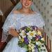 Nicola Philpot menyasszonyként az esküvő napján, 2000-ben