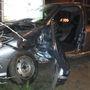 A Renault-ot vezető nő súlyos sérüléseket szenvedett.