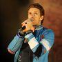 A 2009-es Brit Awards díjkiosztó próbáján – ekkor kezdődött Chris Martinnál a kék korszak...