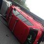 Kollégánk helyszíni képei az M1-es Budapest felé vezető oldalán, a 46. kilométerkőnél történt balesetről