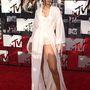 Rihanna hálóruhában érkezett