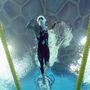 2008: olimpiai előfutam 200 méter gyorson. Phelps is versenyzett az egy időben népszerű cápadresszben.