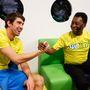 2013: klasszisok, ha találkoznak. Phelps és Pelé egy gyorsétteremlánc sajtóeseményén.