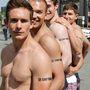 A fiúk a Potsdamer Platzon is megmutatták magukat