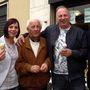Vincenzo Mirarchi két unokájával és fiaival