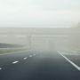 Homokvihar nehezíti a közlekedést az M7-es autópályán Zalakomár közelében.