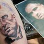 Másoknak úgy van arctetoválásuk, hogy egy arcot tetováltatnak magukra, ez mindjárt kész is lesz
