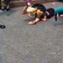 Pozsonyban meg tűsarkús futást tartottak, ahol két lány óriásit taknyolt