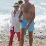 Iñaki Urdangarín és Krisztina hercegnő a tengerparton