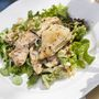 Csirkemell aszalt paradicsomos, fetás kuszkusz salátával