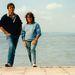 És egy igazi archív kép a Balatonról, ez a fotó Debről és Johnról 1985 szeptemberében készült, az sajnos nem derül ki, mi járatban voltak nálunk