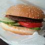 Hamburger - a saláta és a csalamádé saját kérésünkre maradt ki