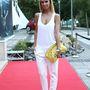 Dukai regina pedig a Miss Balatonon döntőjén talpig fehérbe öltözött. Ma már lehet, hogy fázna ebben a szerelésben.