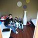 Giorgio és egyszemélyes de kétágyas szobája