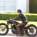 David Beckham és egyedi építésű motorja